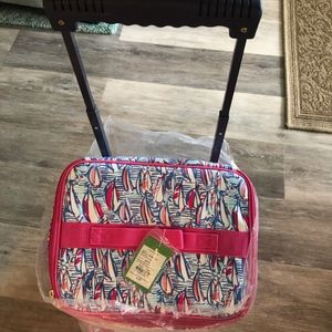 Lilly Pulitzer Accessories - Lilly Pulitzer Rolling Cooler Red Right Return